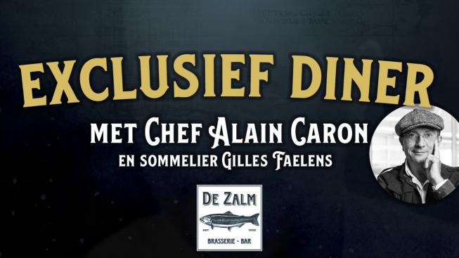 Samenwerking tussen Chef Alain Caron en Brasserie Bar De Zalm