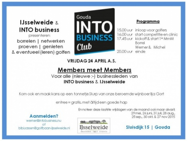 Members meet Members bij IJsselweide